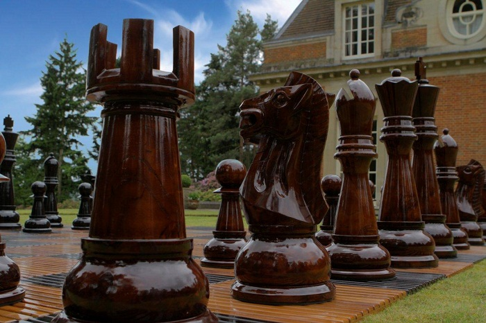 Mega Chess Pieces - Teak. The 2nd largest chess set we ...